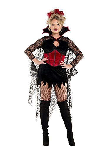 Starline Women's Plus Size Dark Castle Vampire, As