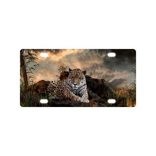 """Leopard License Plate with Lightweight-12 X 6"""" inches"""