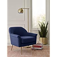 Elle Decor UPH10060B Ophelia Accent Chair, Navy
