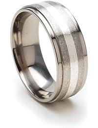 8mm Mens Titanium Rings Wedding Band Titanium Bands For Men Sz 4 17