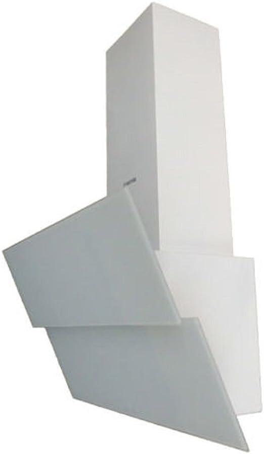 Exklusive Campana extractora 90 cm kopffrei/pared Completo en color blanco decorado con vollgla frontal/Campana