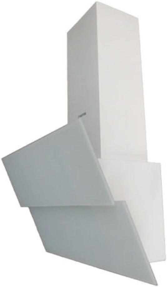 Exklusive Campana extractora 90 cm kopffrei/pared Completo en color blanco decorado con vollgla frontal/Campana extractora con 500 m³/h fuerte Motor/ Campana con doble aspiración/2 x 3 W LED Foco/Campana Canalizado/Recirculación Campana/Incluye Filtro de