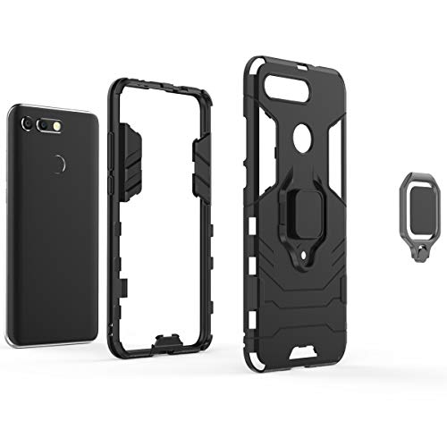 Cocomii Black Panther Ring Huawei Honor View 20/Honor V20 Case, Slim Thin Matte Vertical & Horizontal Kickstand Ring Grip Drop Protection Bumper Cover for Huawei Honor View 20/Honor V20 (Jet Black)