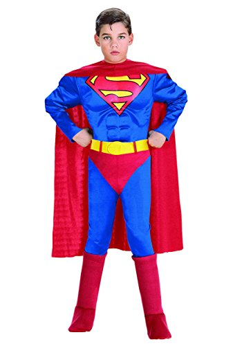 [Deluxe Muscle Chest Superman- Small (Small (Sizes 4-6))] (Small Toddler Toddler Costumes)