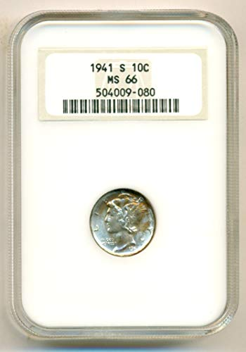 1941 S Mercury Dime MS66 NGC