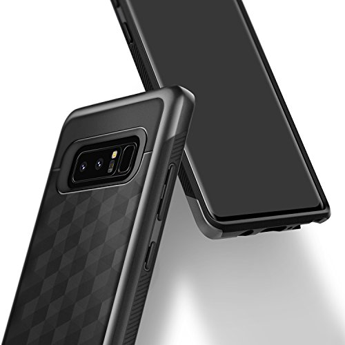 Galaxy Note 8 Case, Caseology [Parallax Series] Slim Protective Dual Layer Textured Cover Secure Grip Geometric Design for Samsung Galaxy Note 8 (2017) – Black