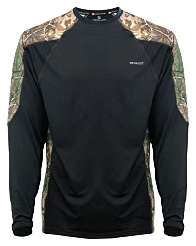 Medalist Performance Crew Ls Level-2 Black/Rt Camo X-Large ()