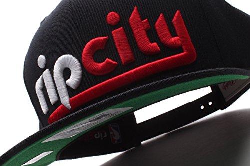 7b254817f8f Portland Trailblazers Rip City Mitchell   Ness Black Snapback - Import ...