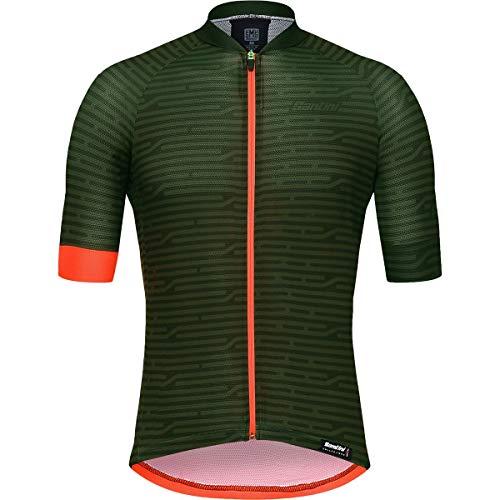 (Santini Soffio Short-Sleeve Jersey - Men's Military Green, M)