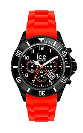 Mit Rote Watch Silikonarmband Chrono Ice Black Herrenuhr Red l3uTKF1cJ