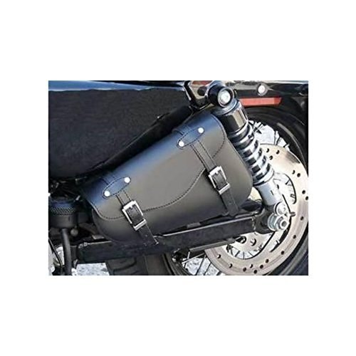 Solo Side Left bag Real Genuine Leather Black Swingarm Motorcycle Tool for Harley Davidson XL 883 1200 All models Sportster Iron Nightster Custom Super Low Forty Eight Seventy Two Roadster 1200C 1200X