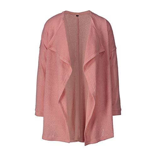Top Manica Yying Maglione Signora Caldo Casual Coat Peluche Moda Allentato Nuovo Donne Spessa Inverno Lunga Outdoor Rosa Pullover qwr8ZqC
