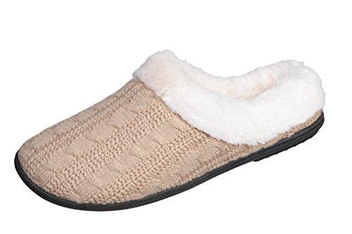 Pantofole Joan Vass Donna Con Cinture A Maglia Zoccoli Invernali Pantofole Da Camera Da Letto Super Comode E Confortevoli