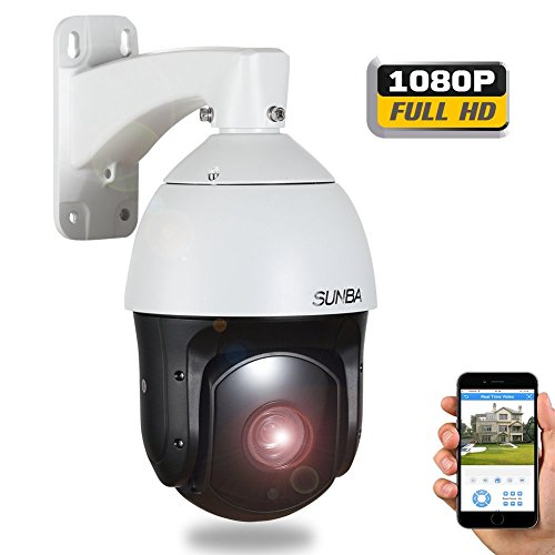 SUNBA 1080P HD, 20X Optical Zoom, Laser IR-Cut 350m, 4.7~94.0mm, 2.0 Megapixels, Night Vision, Outdoor Waterproof, 120°/s High Speed PTZ IP Network Security Dome Camera with ONVIF (601-D20X)