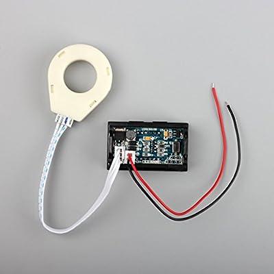 bayite DC 5-120V 100A Mini Digital Current Voltage Amp Meter Ammeter Gauge with Hall Effect Sensor Transformer: Industrial & Scientific