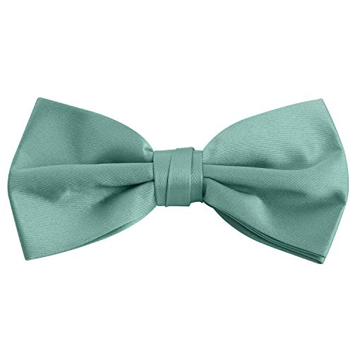 Mens Satin Pretied Bowtie for Formal Tuxedo with Adjustable Length (Seafoam)