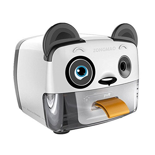 Electric Pencil Sharpener,Heavy Duty Helical Blade Sharpeners for Kids Artists Classroom Office School,Auto-Stop Feature for No.2 and Colored Pencils,Cute Panda(Panda) by Zmol