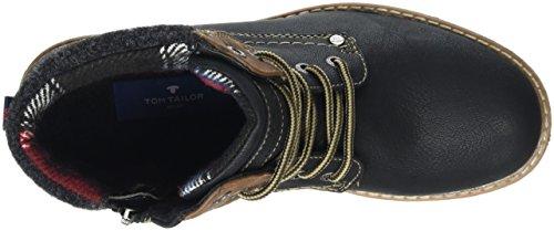 Tom Tailor 1692004, Zapatillas de Estar por Casa para Mujer Negro - negro