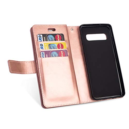 2f37a879f3a6 Yobby Zipper Wallet Case for Samsung Galaxy S10,Rose Gold Phone Case ...