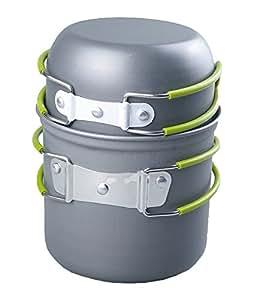 RioRand Portable Cookware Backpacking Bowl Pot Pan Cooking Kit