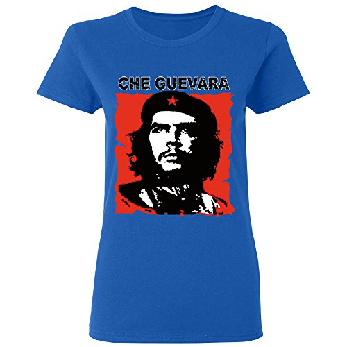 Zexpa Apparel Ernesto Che Guevara Poster Women's T-Shirt Souvenir Tee Royal Blue Medium for $<!--$11.99-->