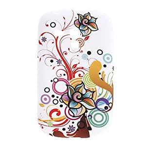 Flower Pattern TPU Soft Case for Samsung Galaxy S3 Mini I8910