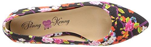 Penny Elsker Kenny Womens Aaron Sf Ballett Flat Svart Floral