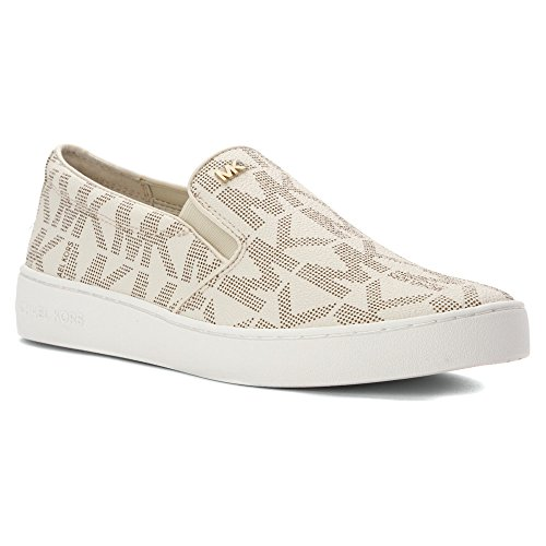1b671742d1 MICHAEL Michael Kors Women's Keaton Slip-On Vanilla Mk Sig Pvc Sneaker 8 M