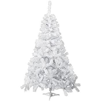 gojooasis 5 artificial christmas tree premium spruce hinged eco friendly xmas pine tree white - Christmas Tree White