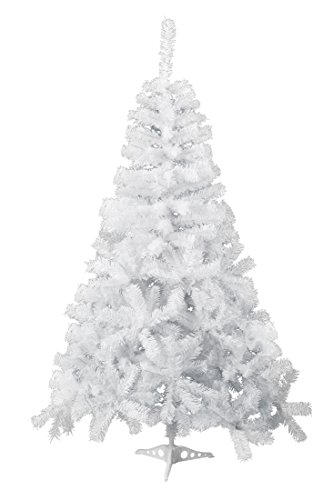 GOJOOASIS 5' Artificial Christmas Tree Premium Spruce Hinged Eco-Friendly Xmas Pine Tree White