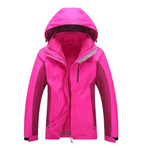 Evere Women Heated Jacket Heating Windbreaker USB Detachable Liner Hoodie