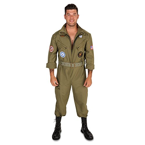 [Military Fighter Pilot Jumpsuit Adult Costume L] (Us Army Costumes)