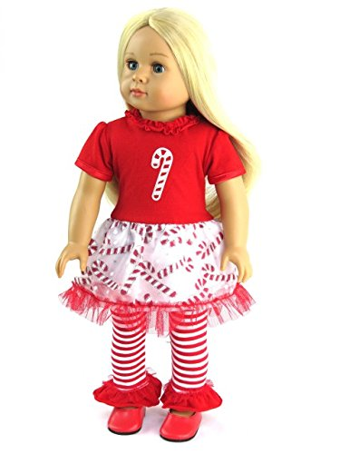 Candy Cane Christmas Outfit| 18 Inch American Girl Doll Clothes - Amazon.com: Candy Cane Christmas Outfit18 Inch American Girl Doll