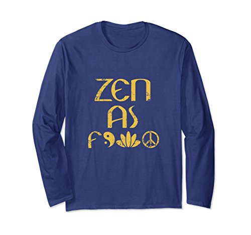 Unisex Zen Meditation Lovers T-Shirt For Men Or Woman Buddha Tee 2XL Navy Buddha Fitted T-shirt