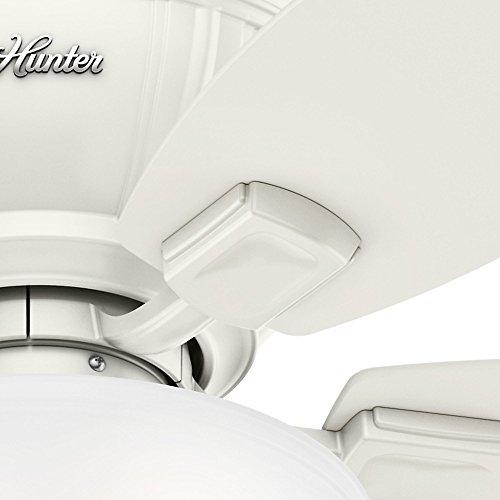 Hunter 53378 Kenbridge 52'' Ceiling Fan with Light, Large, Fresh White by Hunter Fan Company (Image #7)