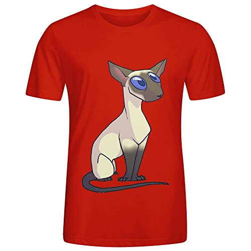 Western Siamese Adult Men T-Shirt Red