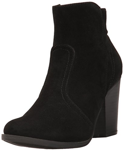 Breckelle's Women's Dorado-11 Western Ankle Boot Black Suede 6 (Studded Brinley Boots Riding)