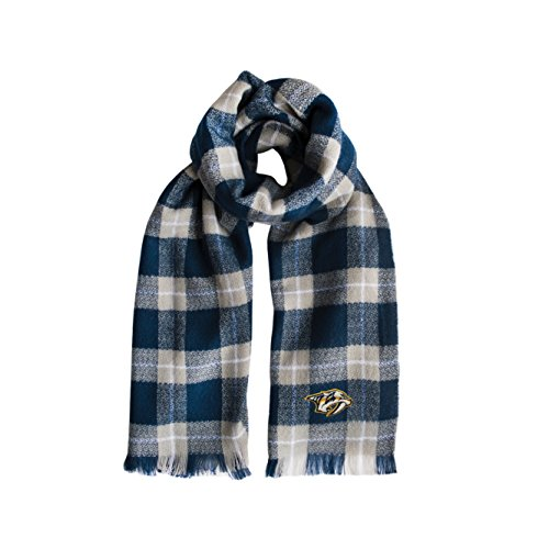 Littlearth NHL Nashville Predators Plaid Blanket Scarf