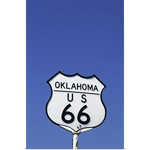 GREATBIGCANVAS Poster Print Entitled Route 66 Sign, Oklahoma by 12