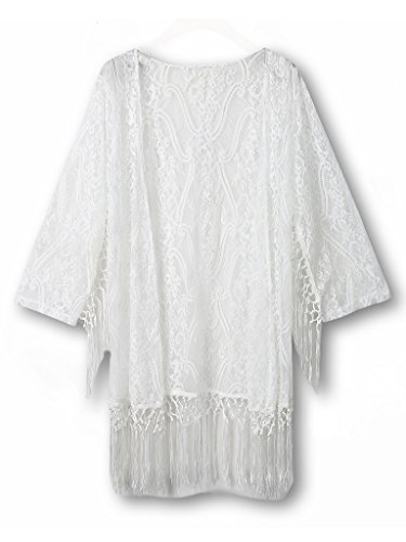 Choies Womens Crochet Fringe Bating