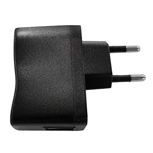 tel/éfono m/óvil UU Adaptadores de CA//CC Adaptador de Pared USB de 1pc Cargador de MP3 Fuente de alimentaci/ón de CC//CC Enchufe de la UE//EE mp3 Negro PDA Adecuado para DV