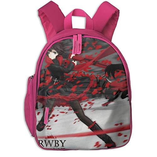 Unisex Funny RWBY-Rose 3D Printed Student Boys Girls Backpack Book Schoolbag Kids Daypack Travel Bags