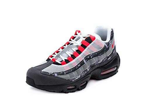 Nike Mens Air Max 95 Print Black/Crimson Suede Size 10 (Max Air Women Nike Print)