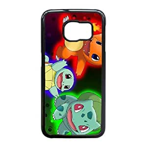 Personalized Durable Cases Samsung Galaxy S6 Edge Cell Phone Case Black Pokemon Cartoon Wkesd Protection Cover