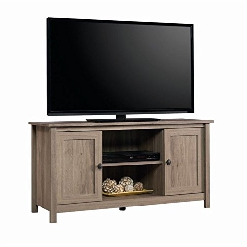 Sauder County Line Panel TV Stand, For TVs up to 47'', Salt Oak finish by Sauder
