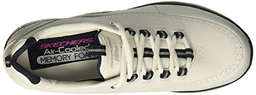 Skechers Women's Synergy 2.0 Fashion Sneaker White/Navy hot sale cheap price buy cheap real clearance low shipping fee sale prices WSWmo12