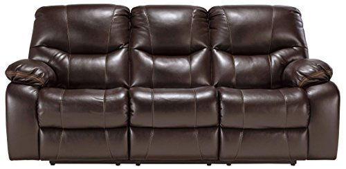 Signature Design by Ashley Pranas Reclining Power Sofa, Brindle