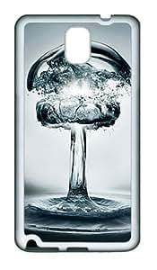 3D Water TPU Custom Samsung Galaxy Note 3/Note III/N9000 Case and Cover - White