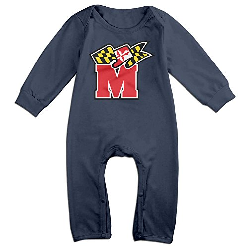 Price comparison product image JJVAT University Of Maryland Long Sleeve Play Suit For 6-24 Months Infant Size 6 M Navy