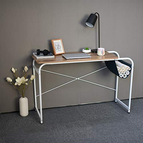Sodoop Computer Desk with Cloth Bag Storage, Modern Wooden Desktop Laptop Desk Study Table Workstation Office Desk, Writing Table